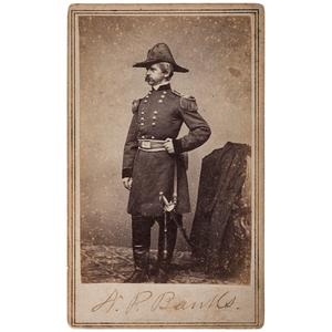 General Nathaniel P. Banks Signed CDV