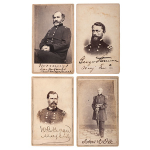 Major Generals Dix, Hazen, Meigs, & Stoneman, Four Signed CDVs