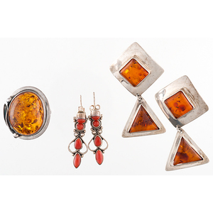 Amber Ring and Earrings PLUS
