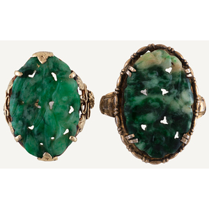 Jade Rings in Gold and Silver