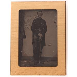 Tintype of Captain Henry Pearson, 6th New Hampshire Infantry, KIA