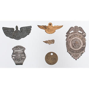 Group of Early Aviation Ephemera including an Arlene Airess Flying Club Pin