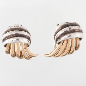 Tiffany & Co. 14 Karat and Sterling Earrings