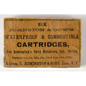 Six Johnston & Dow's Waterproof & Combustible Cartridges