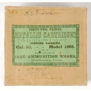 Forty-Two Primed Metallic Cartridges for Spencer Carbine, Cal 50 -- Model 1865