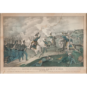 Mexican War Prints by J. Baillie, Incl. Genl. Taylor at the Battle of Palo Alto & Battle of Churubusco