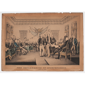 The Declaration of Independence, Lithograph by Currier