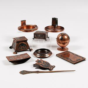Heintz Sterling over Copper Desk Items, Plus