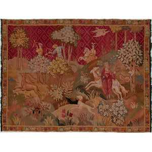 Tapestry with Hunting Scene