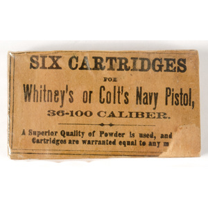 Six Cartridges for Whitney's or Colt's Navy Pistol