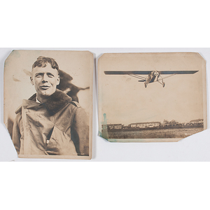 Charles Lindbergh, Two Silver Gelatin Photographs