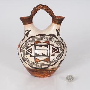 Acoma Polychrome Pottery Wedding Vase