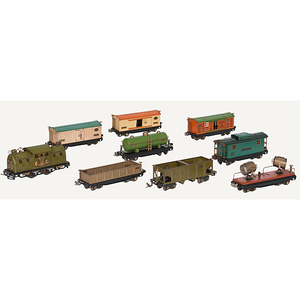 Fine Pre-War Lionel Train Set with Some Original Boxes, Lot of 15
