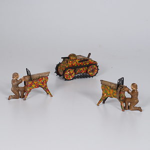 Marx Military Tin Toys, Lot of 3