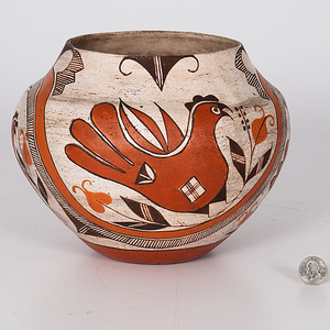Acoma Four-Color Pottery Jar