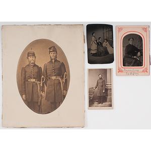 James M. Cockefair, Indiana 3rd Light Artillery and 13th Infantry, CDV, Enlarged Civil War Photograph, Plus