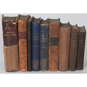 Assorted U.S. Military Books Identified to James M. Cockefair, Indiana 3rd Light Artillery and 13th Infantry