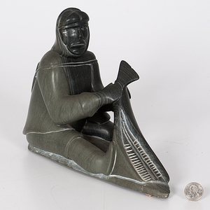 Samson Meeko (Belcher Islands, b. 1939) Soapstone Sculpture