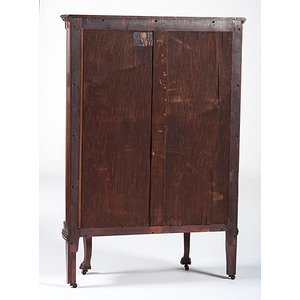 Robert Mitchell Furniture Co. Mahogany Curio Cabinet With Griffin Carvings