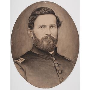 Capt. James M. Cockefair, Indiana 3rd Light Artillery and 13th Infantry, Pencil Sketch