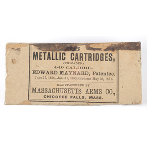 25 Metallic Cartridges by Edward Maynard