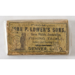 An Unopened Box of John P. Lower's Sons .31 Caliber Paper Cartridges