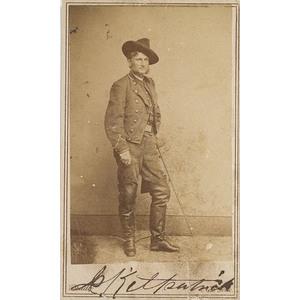 Autographed CDV of General Judson Kilpatrick,