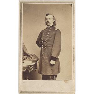 CDV of Brigadier General George A. Custer,