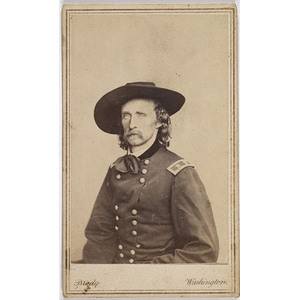 CDV of Major General George A. Custer,
