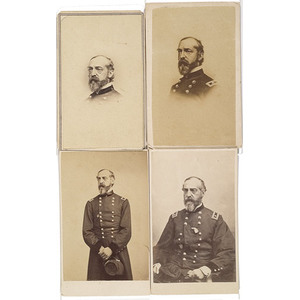 Four CDV's of Major General George G. Meade,