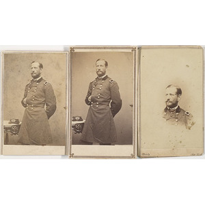 Three CDV's of Major General Alfred Pleasonton,