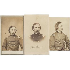Three CDV's of Major General Gouverneur K. Warren,