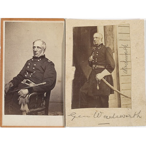 Two CDV's of Major General James S. Wadsworth,