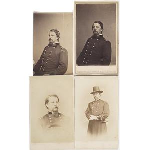 Four CDV's of Major General Winfield Scott Hancock,