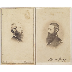 Two CDV's of Brigadier General David M. Gregg,