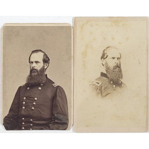 Two CDV's of Brevet Major General John W. Geary,