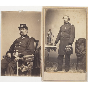 Two CDV's of Major General William H. French,