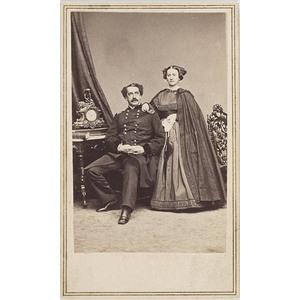 CDV of Brevet Major General  & Mrs. Abner Doubleday,