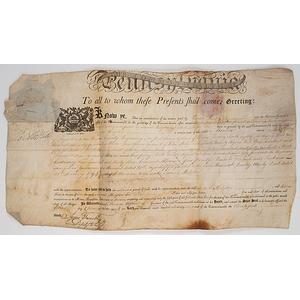 Land Indenture Signed byThomas Mifflin, 1797