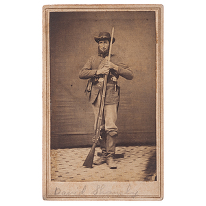 Civil War CDV of Pvt. David Shanely, 134th OVI, Plus Family Letters
