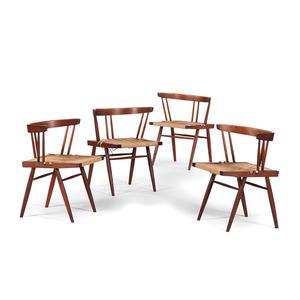 George Nakashima Grass-Seated Chairs