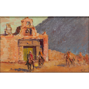 Zievfo Zick (American, 19th century) Oil on Board