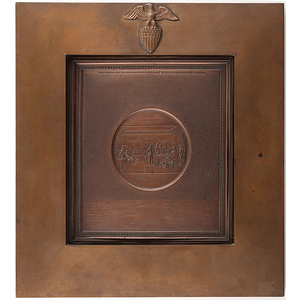 Declaration of Independence, Engraved Wall Plaque by Samuel H. Black, 1859
