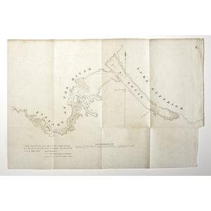 Map from 1814 Boundary Survey, David Thompson