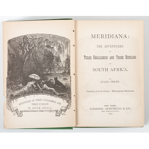 [Literature - Fantasy - Jules Verne]  Three Early American Editions of Jules Verne's Books - Scribner, Armstrong & Company