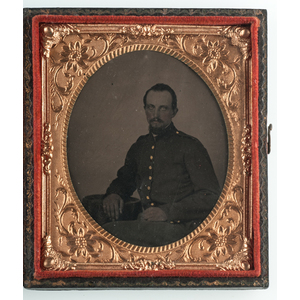 Sixth Plate Tintypes of Civil War Soldiers Incl. Portrait by D.W. Barr