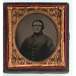 Sixth Plate Ambrotypes of the Same Soldier