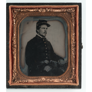 Ambrotypes and Tintypes of Civil War Soldiers Incl. A Young Boy in a Military Style Coat