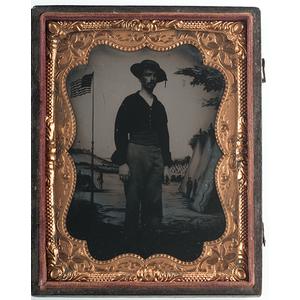 Civil War Quarter Plate Tintype of a Sailor