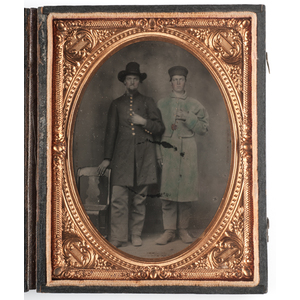 Quarter Plate Tintype of Union Pards, Plus